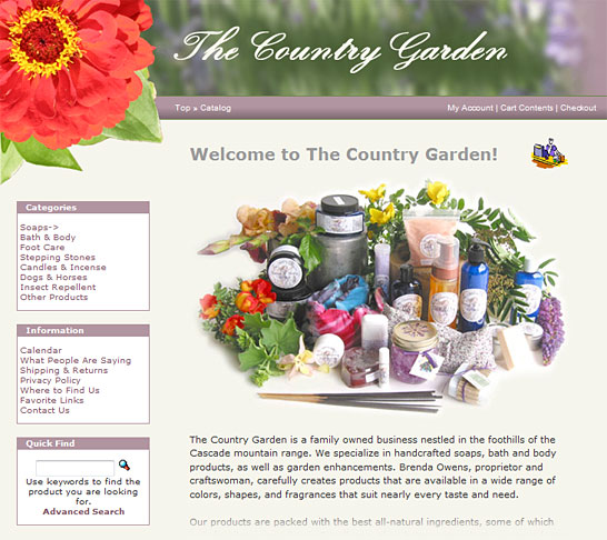 The Country Garden | Home Page