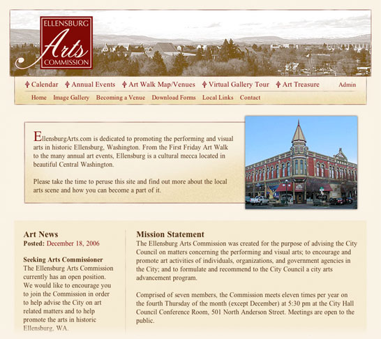 Ellensburg Arts Commission | Home Page