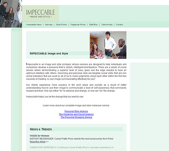 Impeccable | Home Page
